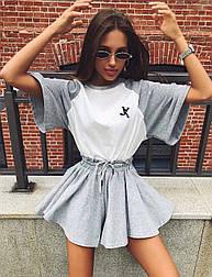 Костюм женский футболка и шорты-юбка (в расцветках)