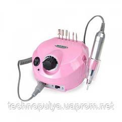 Фрезер машинка для маникюра и педикюра с реверсом 35000 оборотов 30 Вт Nail Drill DM-202 Розовый