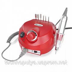Фрезер машинка для маникюра и педикюра с реверсом 35000 оборотов 30 Вт Nail Drill DM-202 Красный