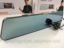 Сенсорне автомобільне дзеркало відеореєстратор з камерою заднього виду DVR A28PRO ORIGINAL (2 камери) з