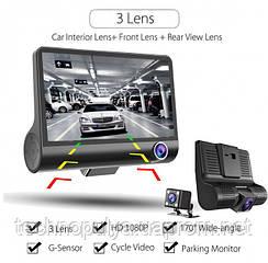 Автомобільний відеореєстратор 3 камери FULL HD T-655