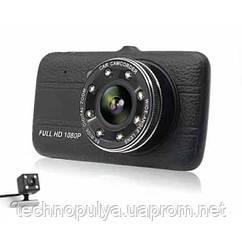 Автомобільний відеореєстратор з камерою заднього ходу FULL HD з нічною зйомкою T657