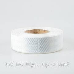 Светоотражающая самоклеящаяся сегментированная лента квадрат Eurs 5х5 см х 45 м Белая (400KDLKM2-WHITE)