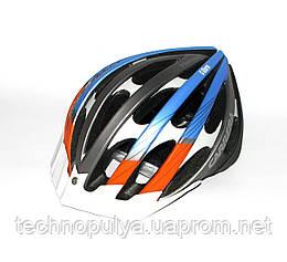 Велошлем CARRERA SF8 C-Storm Black-Blu s.54-57
