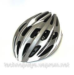 Велошлем CARRERA SF7 Pistard Grey-Wh s.54-57
