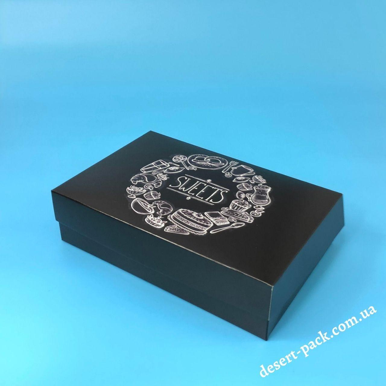 """Коробка для еклерів, ескімо, десертів 230х150х60 мм """"Sweets"""""""