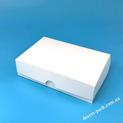 Коробка для еклерів, ескімо, десертів 230х150х60 мм, біла, фото 2