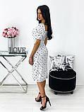 Сукня жіноча міді штапель 42-44; 46-48 кавовий, фреза, бежевий, чорний, білий, фото 5