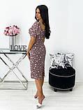 Сукня жіноча міді штапель 42-44; 46-48 кавовий, фреза, бежевий, чорний, білий, фото 2