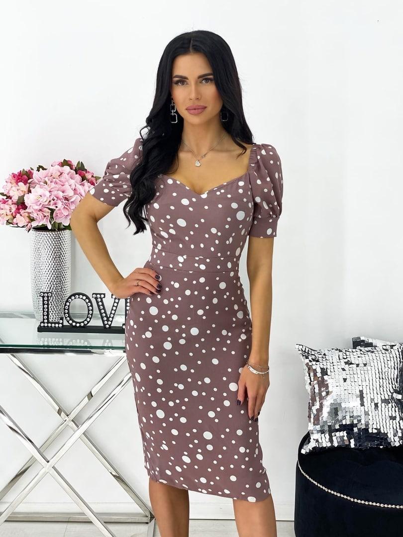 Сукня жіноча міді штапель 42-44; 46-48 кавовий, фреза, бежевий, чорний, білий