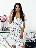 Сукня жіноча міді штапель 42-44; 46-48 кавовий, фреза, бежевий, чорний, білий, фото 3