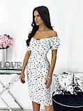 Сукня жіноча міді штапель 42-44; 46-48 кавовий, фреза, бежевий, чорний, білий, фото 4