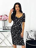 Сукня жіноча міді штапель 42-44; 46-48 кавовий, фреза, бежевий, чорний, білий, фото 9