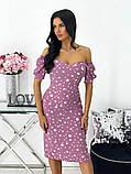 Сукня жіноча міді штапель 42-44; 46-48 кавовий, фреза, бежевий, чорний, білий, фото 8