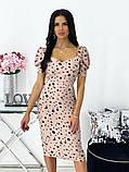 Сукня жіноча міді штапель 42-44; 46-48 кавовий, фреза, бежевий, чорний, білий, фото 10