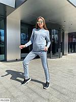Спортивний костюм жіночий зручний однотонний з двуніткі кофта на блискавці р-ри 42-48 арт. 831, фото 1