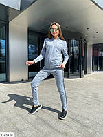 Спортивный костюм женский удобный однотонный из двунитки кофта на молнии   р-ры 42-48 арт. 831, фото 1