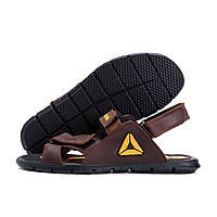 Мужские кожаные сандалии  Reebok NS brown (реплика)