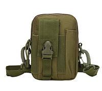 Сумка тактовна поясна, наплічна сумка, органайзер, подсумок TacticBag Олива