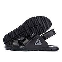 Мужские кожаные сандалии  Reebok NS Grey (реплика)