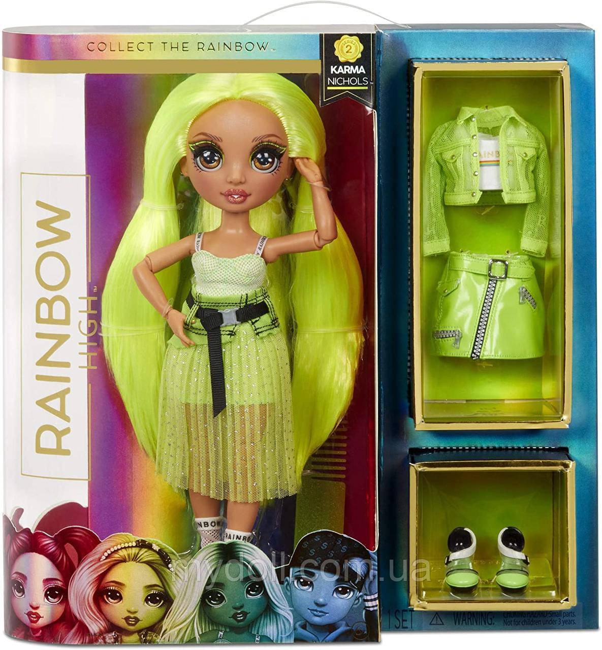 Лялька Мосту Хай Карма Никольс - Rainbow High Karma Nichols S2 572343 Оригінал