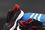 Чоловічі кросівки Adidas Ozweego Celox в стилі Адідас Озвиго ЧОРНІ ЧЕРВОНІ (Репліка ААА+), фото 5
