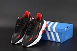 Чоловічі кросівки Adidas Ozweego Celox в стилі Адідас Озвиго ЧОРНІ ЧЕРВОНІ (Репліка ААА+), фото 6