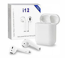 Бездротові навушники i12 TWS Bluetooth 5.0 аналог AirPod Apple