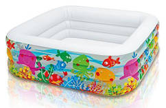 Детский надувной бассейн Intex 57471 «Аквариум», 159 х 159 х 50 см