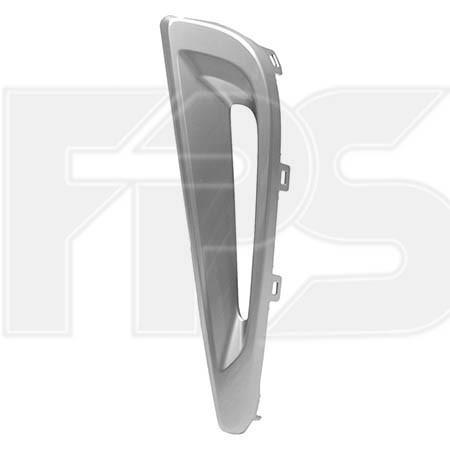 Решітка в бампері ліва Toyota Prius 19- (Тайвань) з отвором, сірий металік