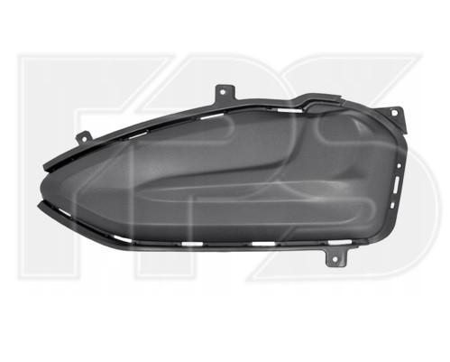 Решітка бампера права Ford Edge 18- (Тайвань) без отвору, текстура чорна