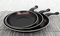 Набор сковородок - 3 шт. Антипригарные. Диаметр 20, 26, 30 см.