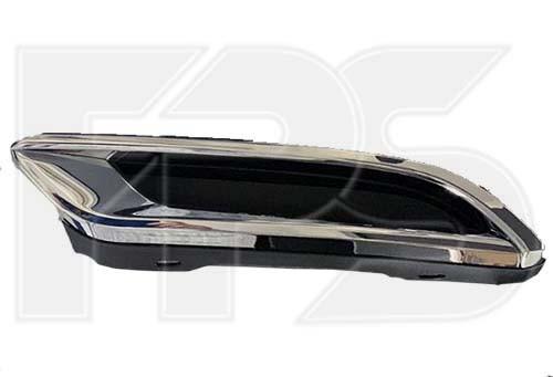 Накладка заднього бампера ліва Toyota Corolla E21 19- USA хетчбек (Тайвань) чорна / хром