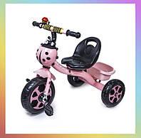 Дитячий металевий триколісний велосипед Scale Sport Рожевий для дітей від 2-х років.