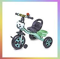 Дитячий металевий триколісний велосипед Scale Sport Бірюзовий для дітей від 2-х років.