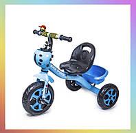 Дитячий металевий триколісний велосипед Scale Sport Синій для дітей від 2-х років.