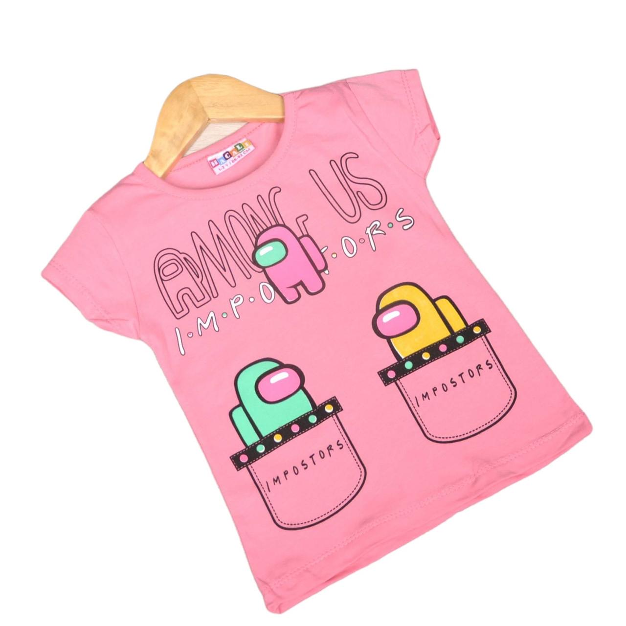 Детская футболка для девочки Амонг Ас, 116см