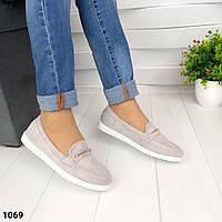 Женские туфли мокасины на белой подошве, фото 1