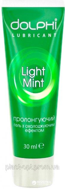 Лубрикант Гель-змазка Dolphi Light Mint охолоджуюча 30 мл