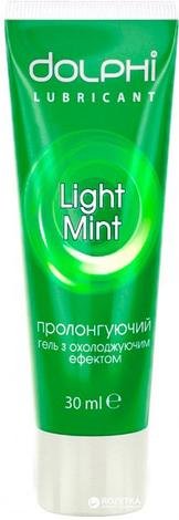 Лубрикант Гель-змазка Dolphi Light Mint охолоджуюча 30 мл, фото 2