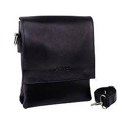 """Мужская сумка из натуральной кожи от ТМ""""ArtMar"""", цвет черный, 21-26-6 см"""