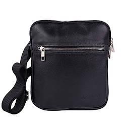"""Мужская сумка из натуральной кожи от ТМ""""ArtMar"""", цвет черный, 19-22-2 см"""