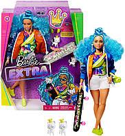 Лялька Барбі Екстра Модниця зі скейтбордом Barbie Extra Doll # 4 with Skateboard & 2 Pet Kittens GRN30, фото 1