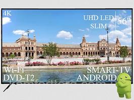 "СовременныйТелевизор Liberton 56"" Smart-TV+DVB-T2+USB АДАПТИВНЫЙ UHD,4K+Android 7.0"