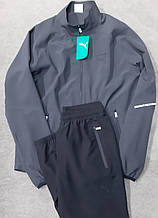 Чоловічий спортивний костюм Puma сірий з чорним мікрофібра