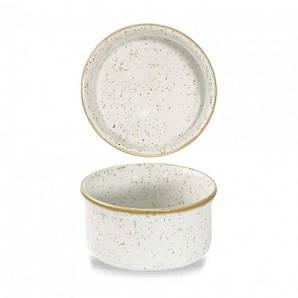 "SWHSSRKN1 Блюдо с крышкой 9 см, 195 мл серия ""Stonecast White Speckle"""
