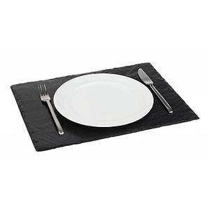 Блюдо сланцевое прямоугольное 45х30 см. черное APS