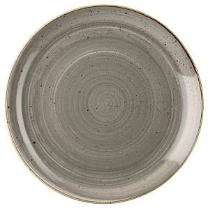 Тарелка круглая 29 см. керамическая, серая Stonecast Peppercorn Grey, Churchill