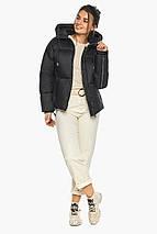 Куртка жіноча чорна коротка модель 46280, фото 3