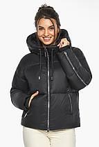 Куртка женская черная короткая модель 46280, фото 3